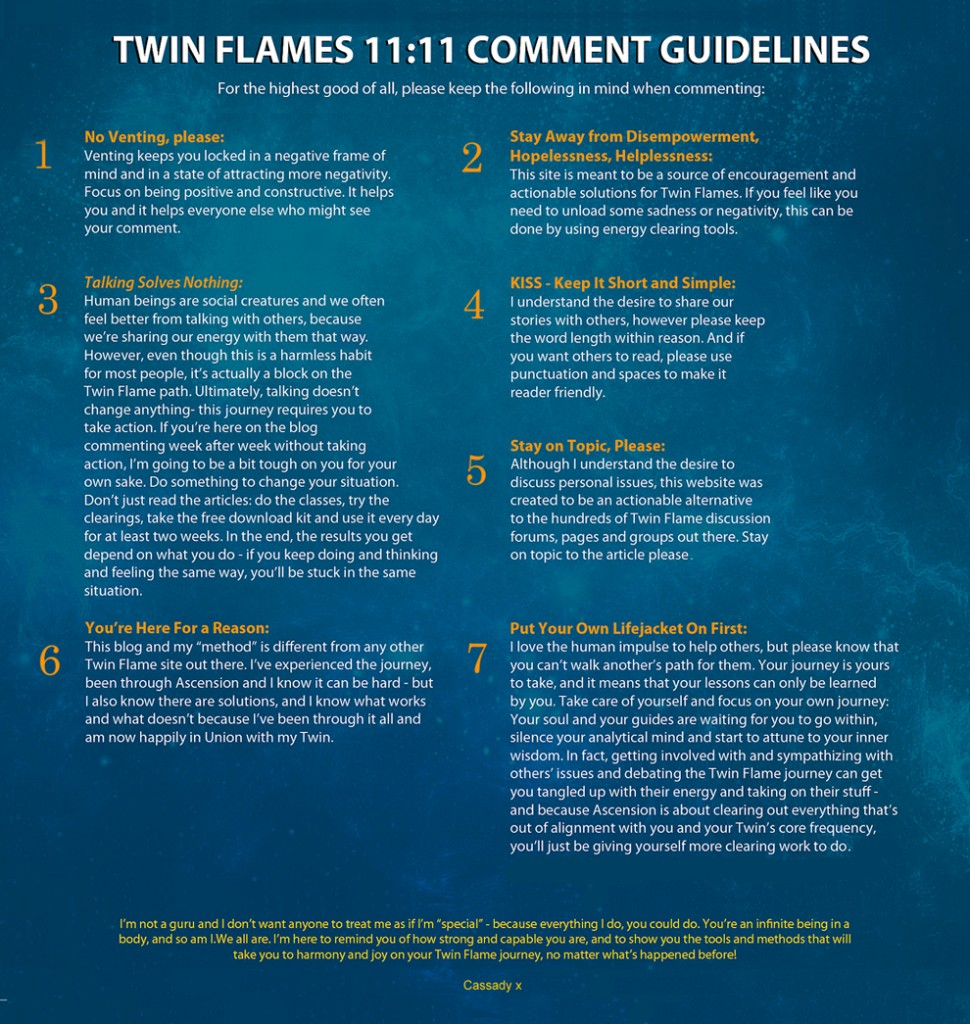 Twin Flames 11:11 Discussion Guidelines